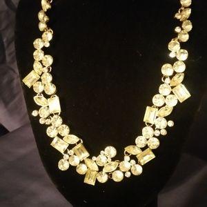 Signed Oscar de la Renta Yellow/Greenish Necklace
